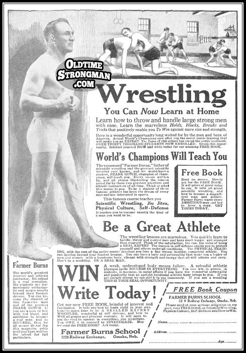 The Farmer Burns School Of Wrestling And Physical Culture